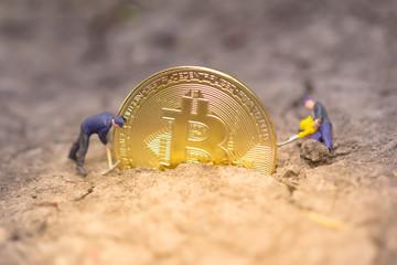 Bitcoin mining. virtual cryptocurrency mining concept. Money laundering bitcoin. bitcoin revolution. blockchain technology.
