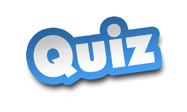 quiz concept 3d illustration isolated