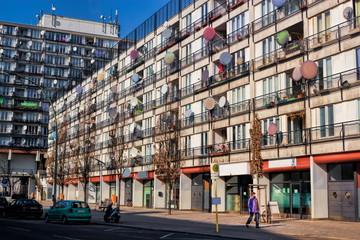 Fotomurales - Sozialer Brennpunkt in Berlin Schöneberg, Deutschland