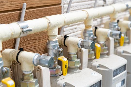 集合住宅のガスメーター 配管 プロパンガス