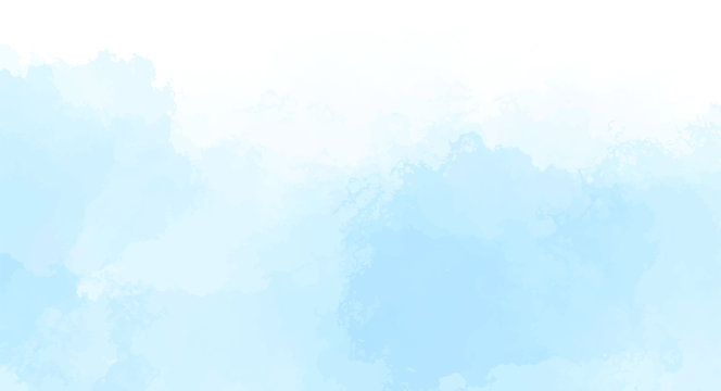Abstract blue watercolor background for your design, watercolor background concept, vector.