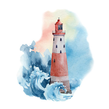 Watercolor nautical collection.