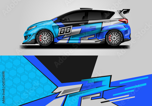 Car Wrap Livery Decal Vector Supercar Rally Drift Graphic