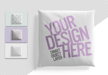 Square Cushion Design Mockup