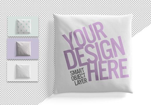 Square Cushion Design Mockup