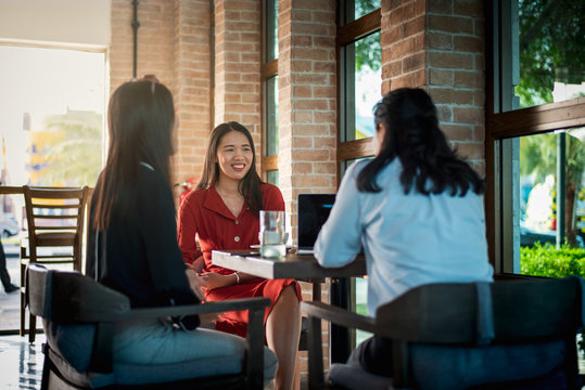 Women having a coffee in the bar