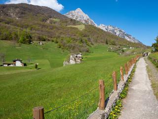 Piani di Nava valley in Valsassina alps