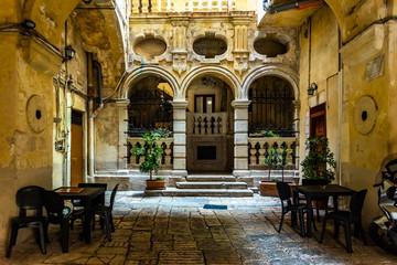 Canvas Prints Morocco Beautiful streets of Bari, Italian medieval city.