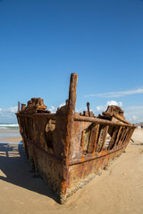 Foto op Plexiglas Schipbreuk Shipwreck