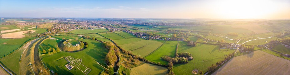 Aerial view of Old Sarum in England Wall mural