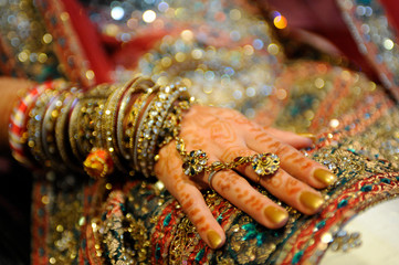 Close up shot of an Indian Bride's hand