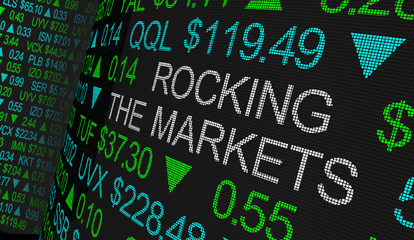 Rocking the Markets Turmoil Economy Stock Business Trouble 3d Illustration