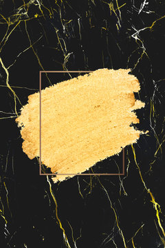 Gold makeup smudge