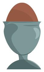 Egg in a egg holder vector or color illustration