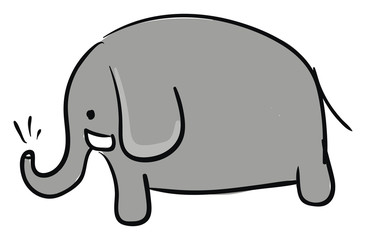 Elephant picture vector or color illustration