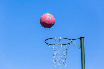 Netball Hoop Ball Blue Sky