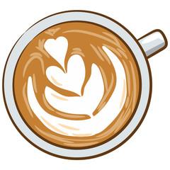 coffee cup vector graphic cartoon