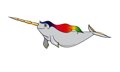 Rainbow Narwhal Unicorn