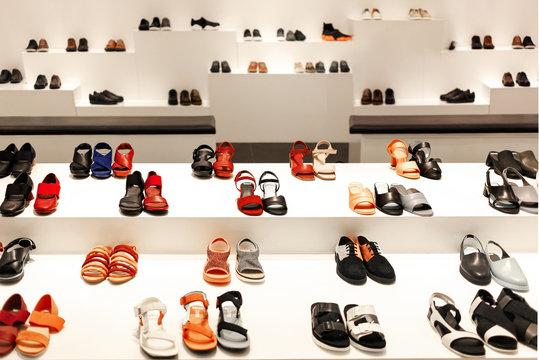 lady shoes display and showcase fashion shop