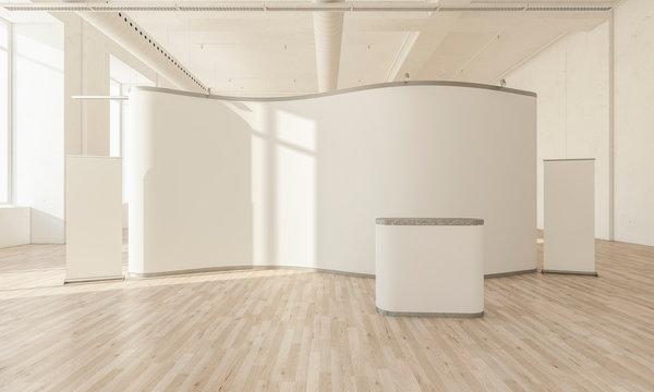 exhibition stand on hall interior
