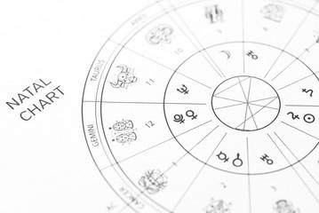 Horoskop / Geburtshoroskop / Zodiac Wheel / Natal Chart - Astrologie
