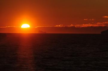 Fond de hotte en verre imprimé Rouge Sunset over the Weddell Sea