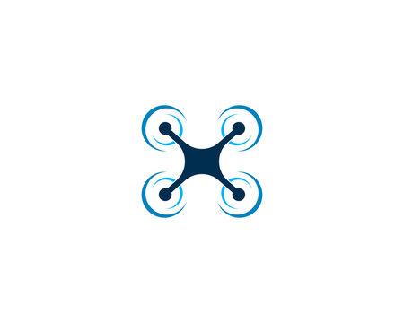Drone logo vector icon design