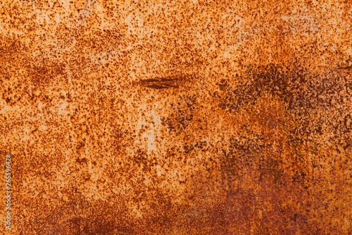 Bright red-orange iron sheet  Rust compound is an iron oxide  Deep