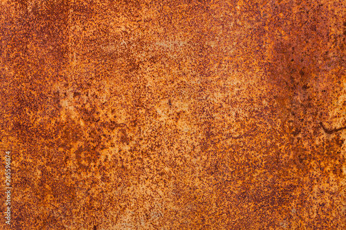 Bright red-orange iron sheet  Rust compound is an iron oxide