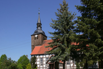 The old church of the village Schlepzig (Spree Forest) Germany