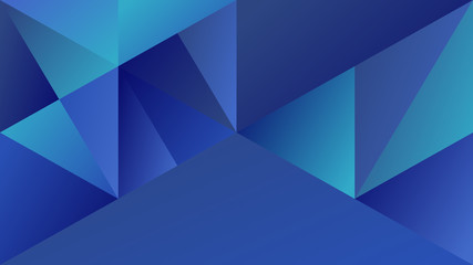 Blue minimal abstract gradient mosaic triangular hd background