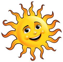 sun cartoon sign