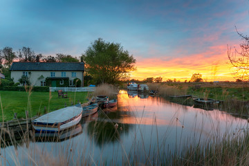 Wall Mural - Sunset at West Somerton in Norfolk