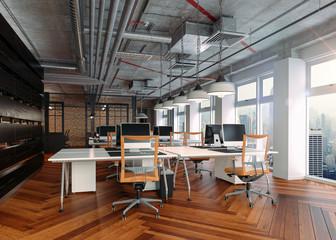 3d render of modern office interior