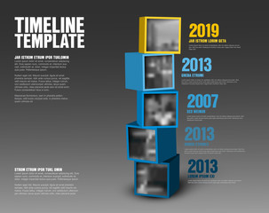 Timeline cubes with photos template