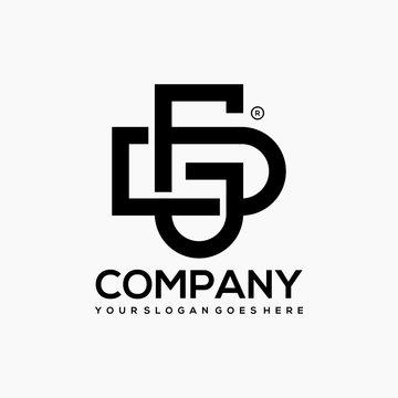 Monogram DG Logo Design Template