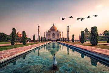 Taj Mahal in sunrise light, Agra, India Fotomurales