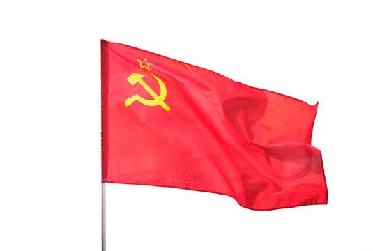 Soviet Union, Ussr flag isolated on white background   -