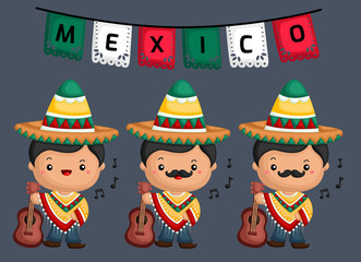 a vector of a musician from Mexico