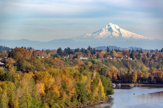 Mt. Hood and Portland, Oregon