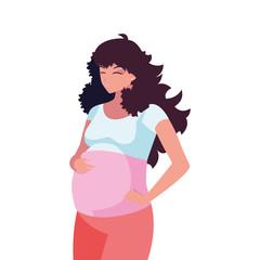 beautiful pregnancy woman character