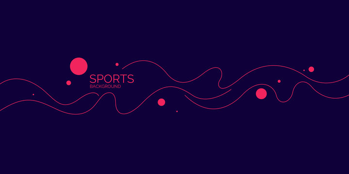 Abstract background with wavy lines. Modern vector illustration for sports
