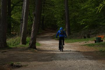 Biker am Donoperteich im Teutoburger Wald