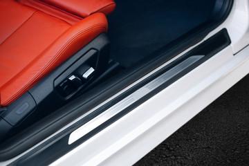Modern car door threshold. Car door frame