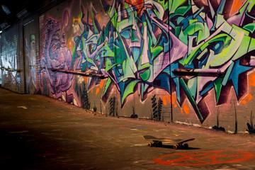 Urbex, grafiti, skateboard, Londra