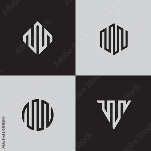 Modern line logos  Creative geometric shapes  Eps10 vector