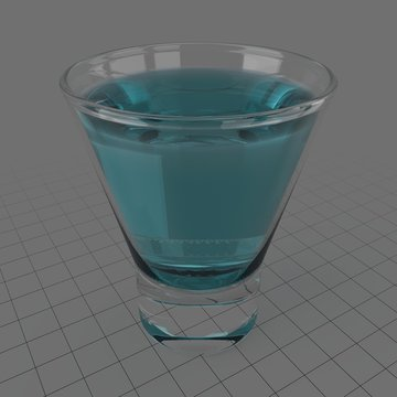 Glass of gin