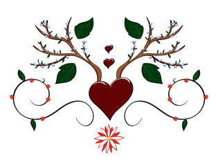 Spring themed hearts and antler decal