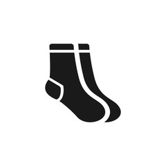 Socks icon. Christmas socks illustration. Simple illustration of sock icon for web, mobile and UI design.