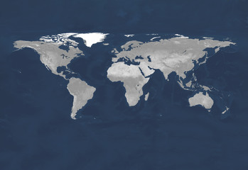 Fototapete - Terrain map from satelite view. Globe similar worldmap icon.  Travel worldwide, map silhouette backdrop. Primary source, elements of this image furnished by NASA.